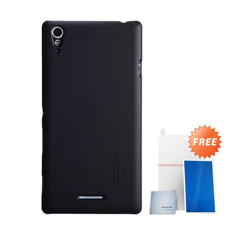 Nillkin Super Frosted Shield Hitam Casing For Sony Xperia T3 + Anti Gores