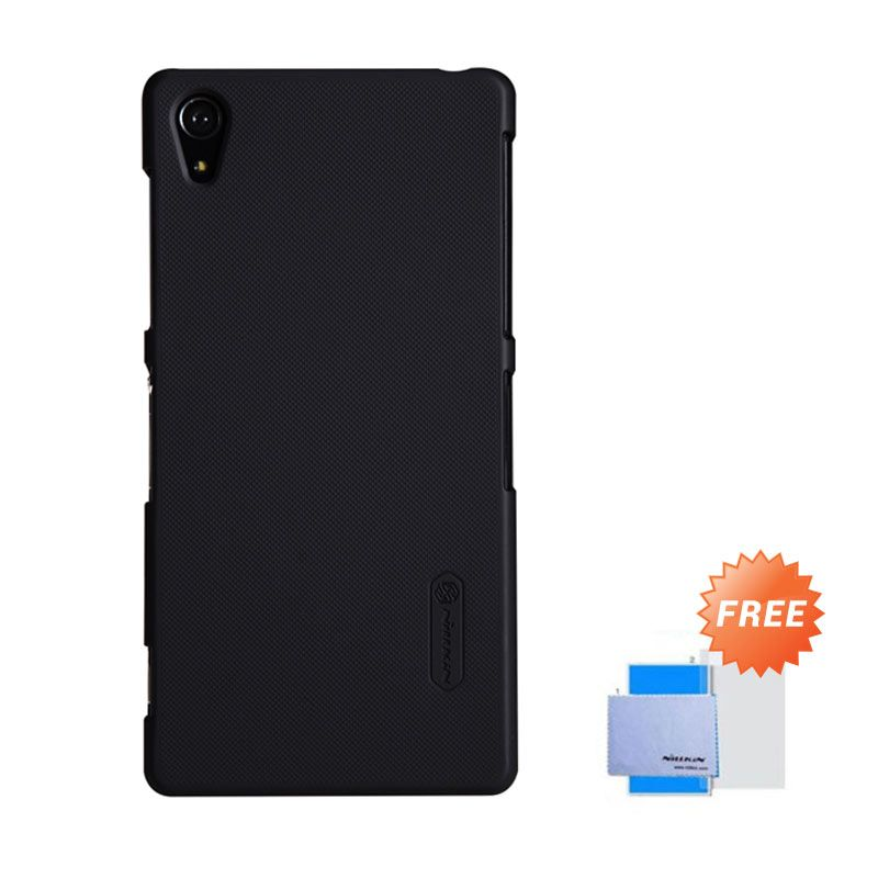 Nillkin Super Frosted Shield Hitam Casing For Sony Xperia Z2 + Nilkin Screen Protector