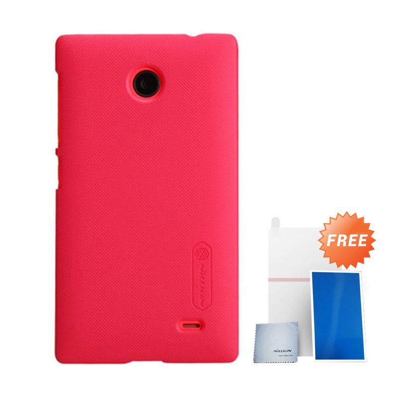 Nillkin Super Frosted Shield Merah Casing For Nokia X + Anti Gores