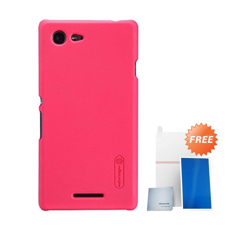 Nillkin Super Frosted Shield Merah Casing For Sony Xperia E3 + Anti Gores