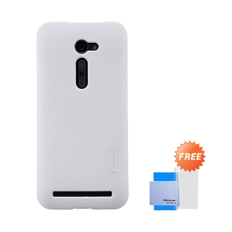 Nillkin Super Frosted Shield Putih Casing for Asus Zenfone 2 ZE500CL + Screen Protector