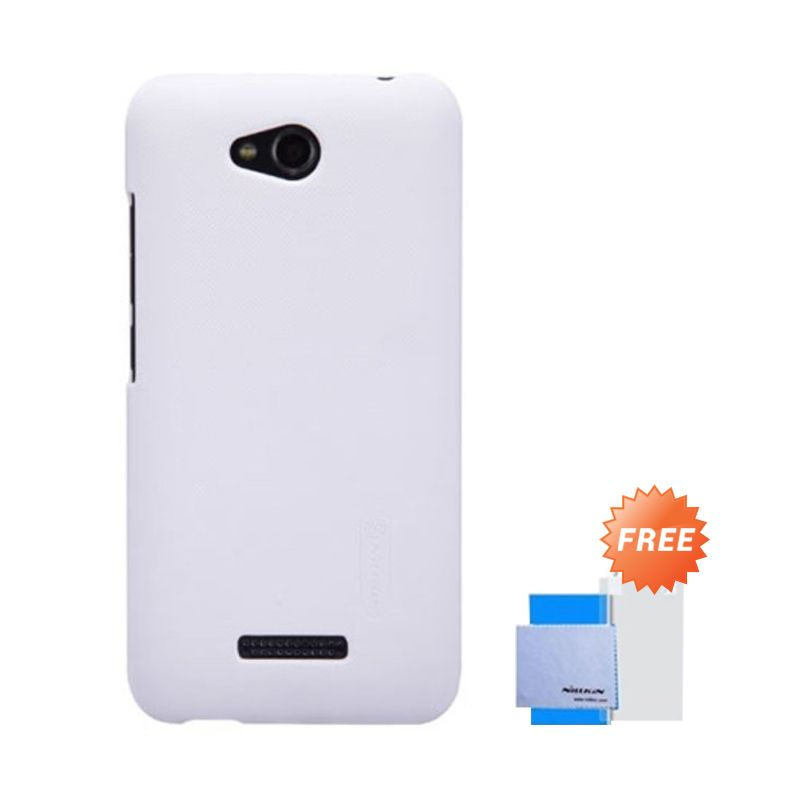 Nillkin Super Frosted Shield Putih Casing for HTC Desire 616 + Anti Gores