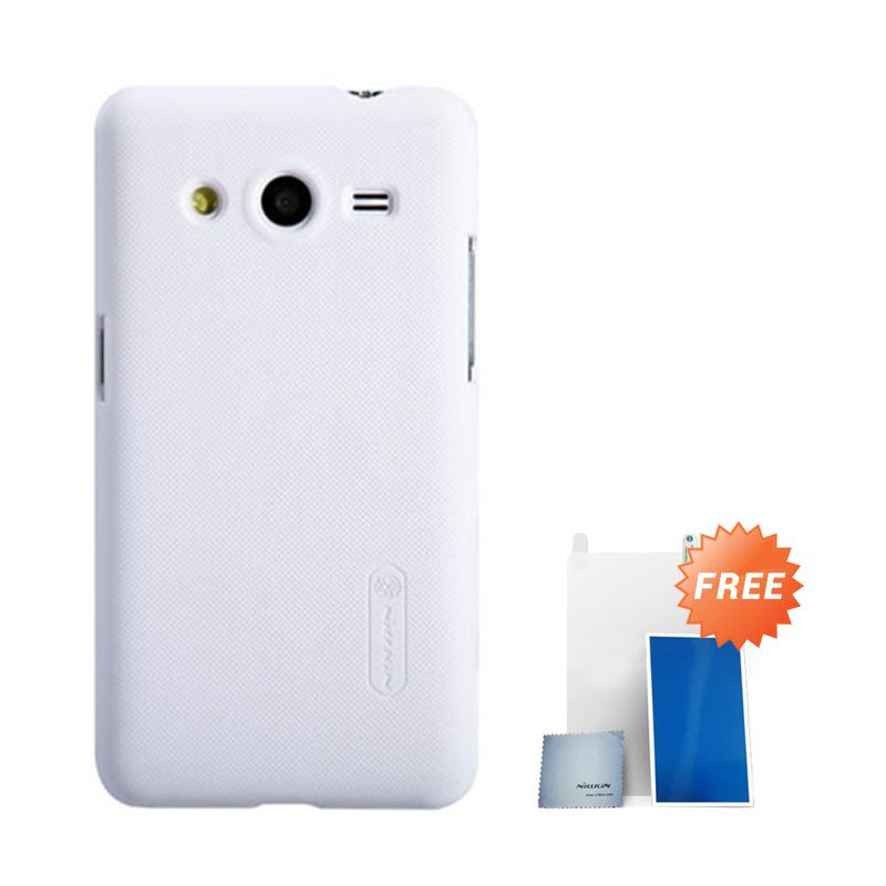 Nillkin Super Frosted Shield White Casing For Samsung Core 2 + Anti Gores