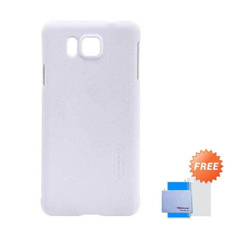 Nillkin Super Frosted Shield Putih Casing for Samsung Galaxy Alpha G850 + Anti Gores