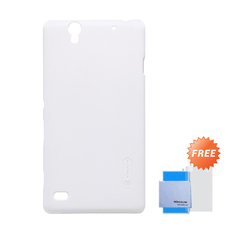 Nillkin Super Frosted Shield Putih Casing for Sony Xperia C4 + Anti Gores