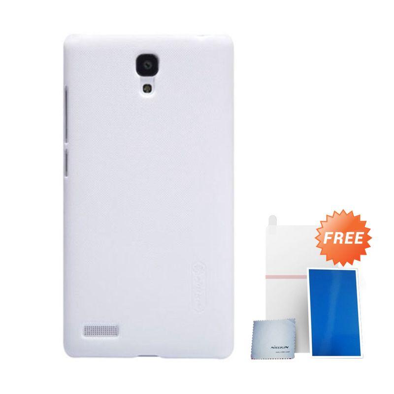 Nillkin Super Frosted Shield Putih Casing For Xiaomi Redmi Note 4G + Anti Gores