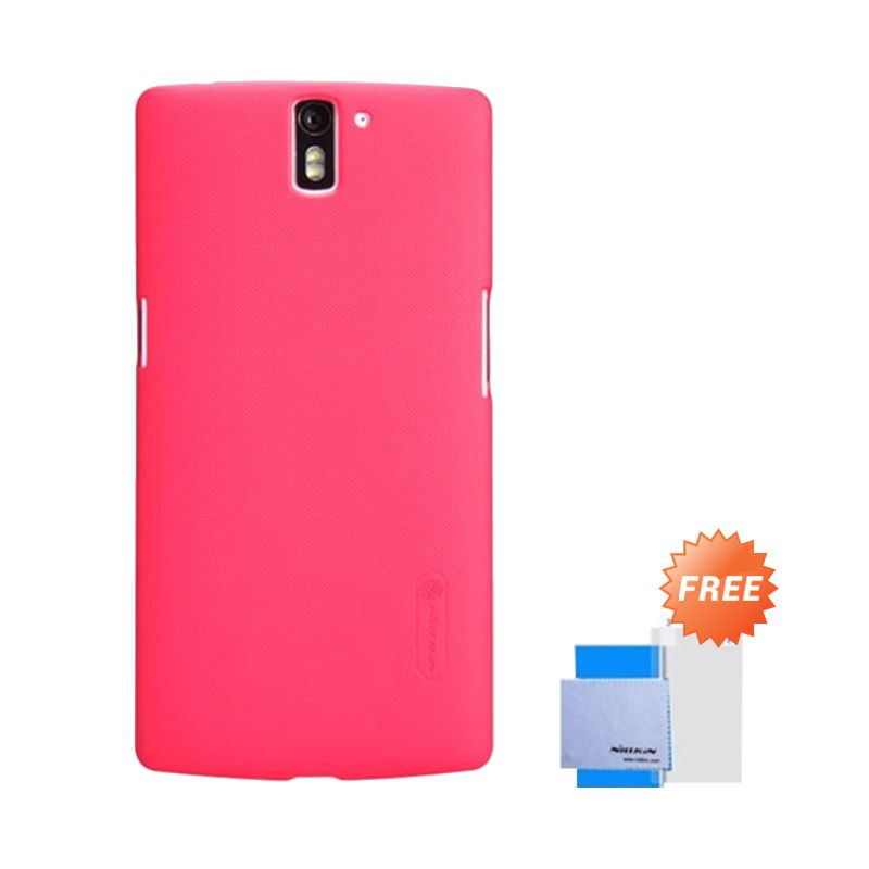 Nillkin Super Frosted Shield Red Casing for One Plus One + Anti Gores