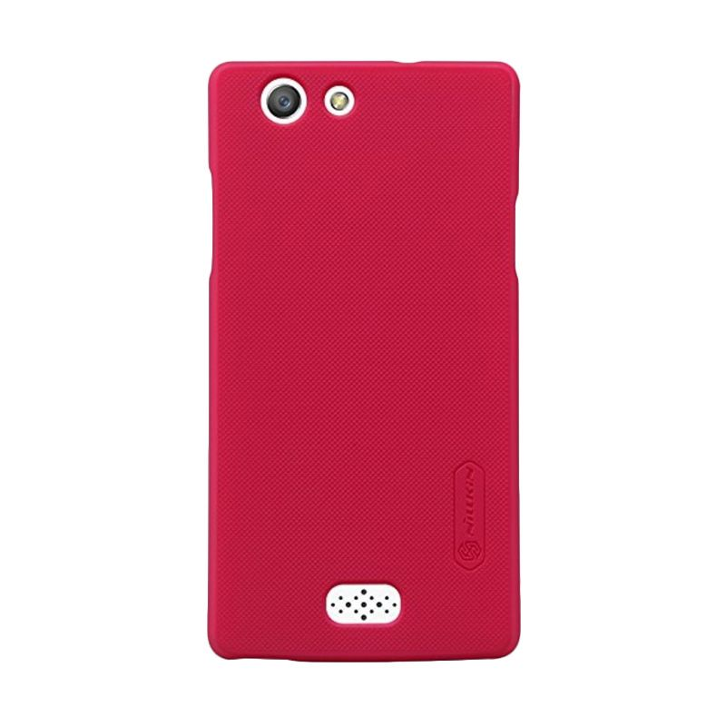 Nillkin Super Frosted Shield Red Casing for Oppo Neo 5 + Anti Gores