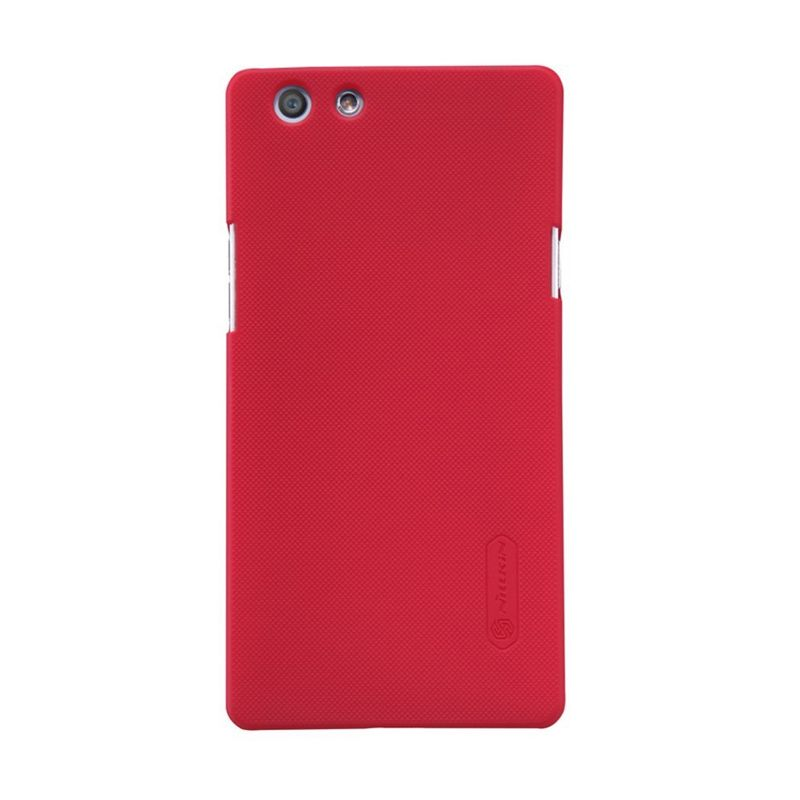 Nillkin Super Frosted Shield Red Casing for Oppo R1C or R1X + Anti Gores
