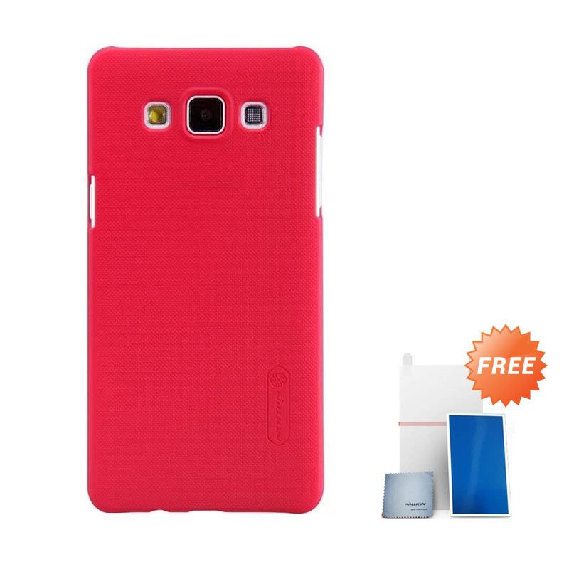 Nillkin Super Frosted Shield Red Casing for Samsung Galaxy A5 + Nilkin Screen Protector