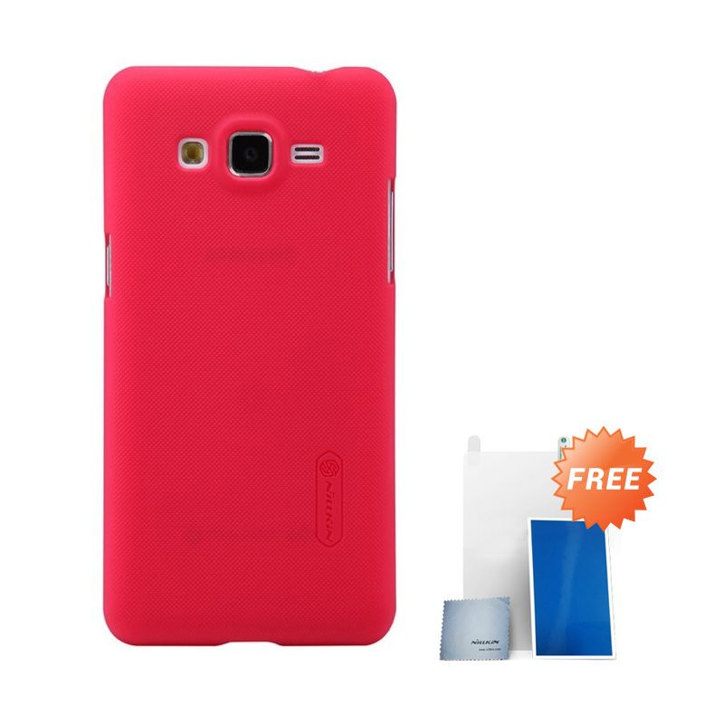 Nillkin Super Frosted Shield Red Casing For Samsung Galaxy Grand Prime G530H + Anti Gores
