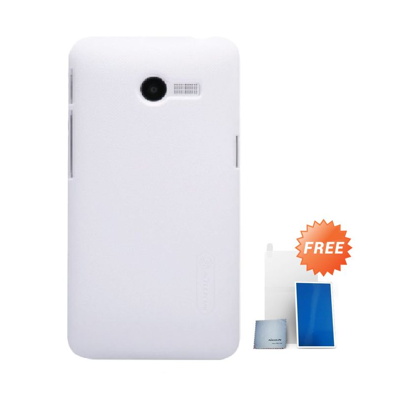 Nillkin Super Frosted Shield White Casing for Asus Zenfone 4 + Screen Protector