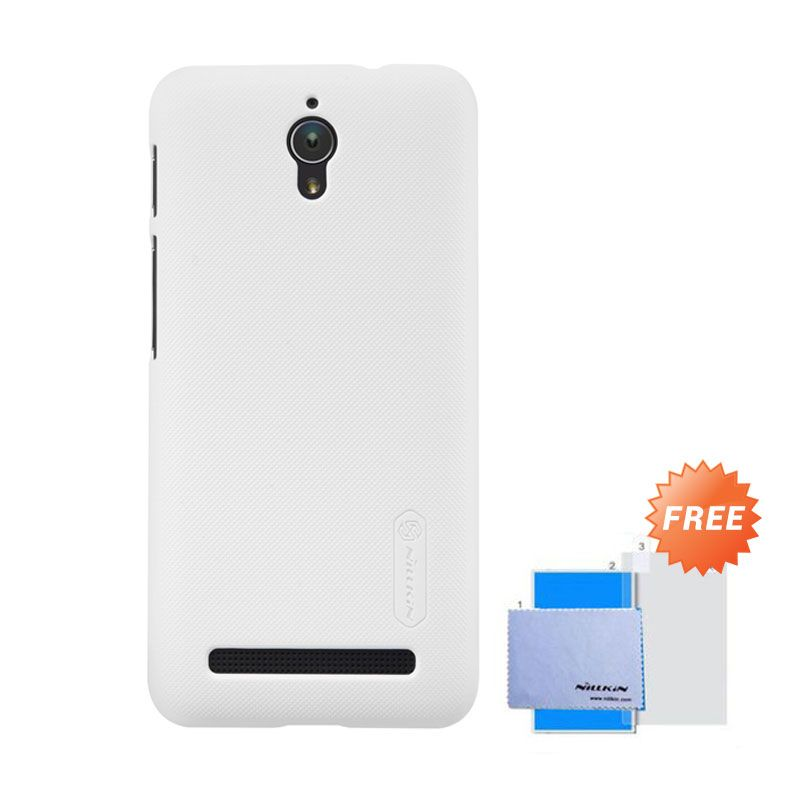 Nillkin Super Frosted Shield White Casing for Asus Zenfone C + Screen Guard