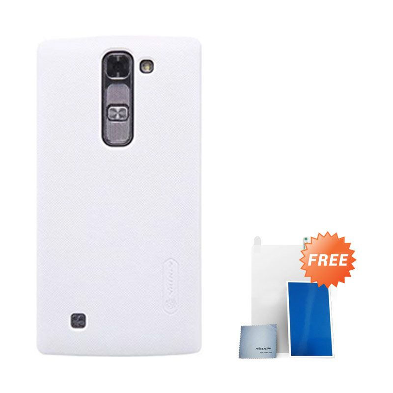 Nillkin Super Frosted Shield White Casing For LG Magna + Anti Gores