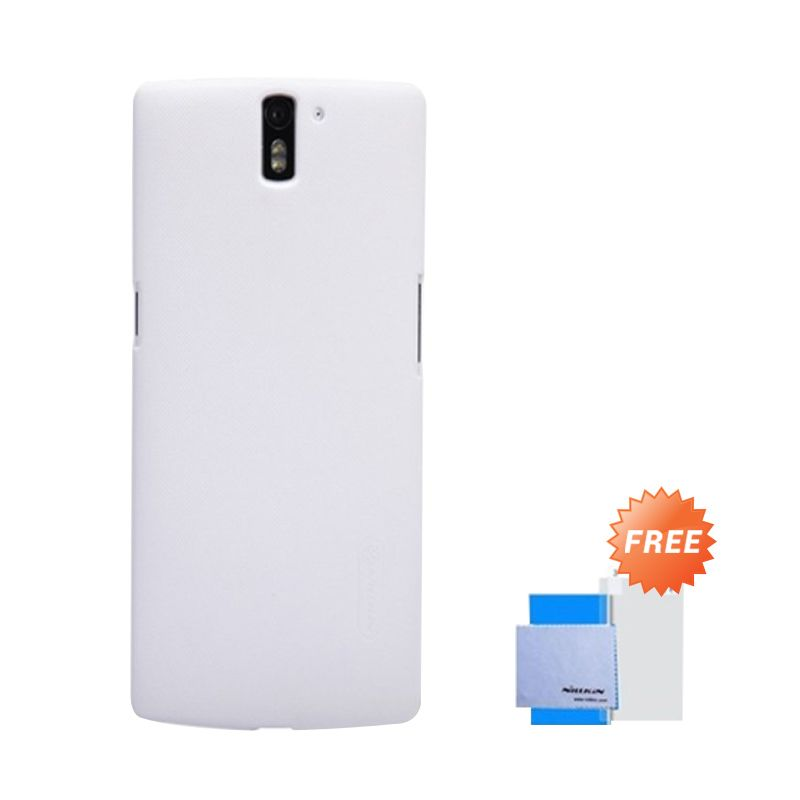 Nillkin Super Frosted Shield White Casing for One Plus One + Anti Gores