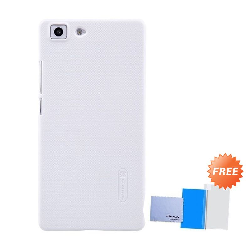 Nillkin Super Frosted Shield White Casing for Oppo R5 + Anti Gores