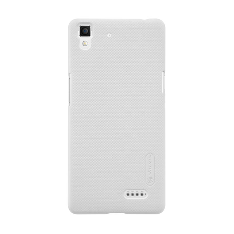 Nillkin Super Frosted Shield White Casing for Oppo R7 + Anti Gores