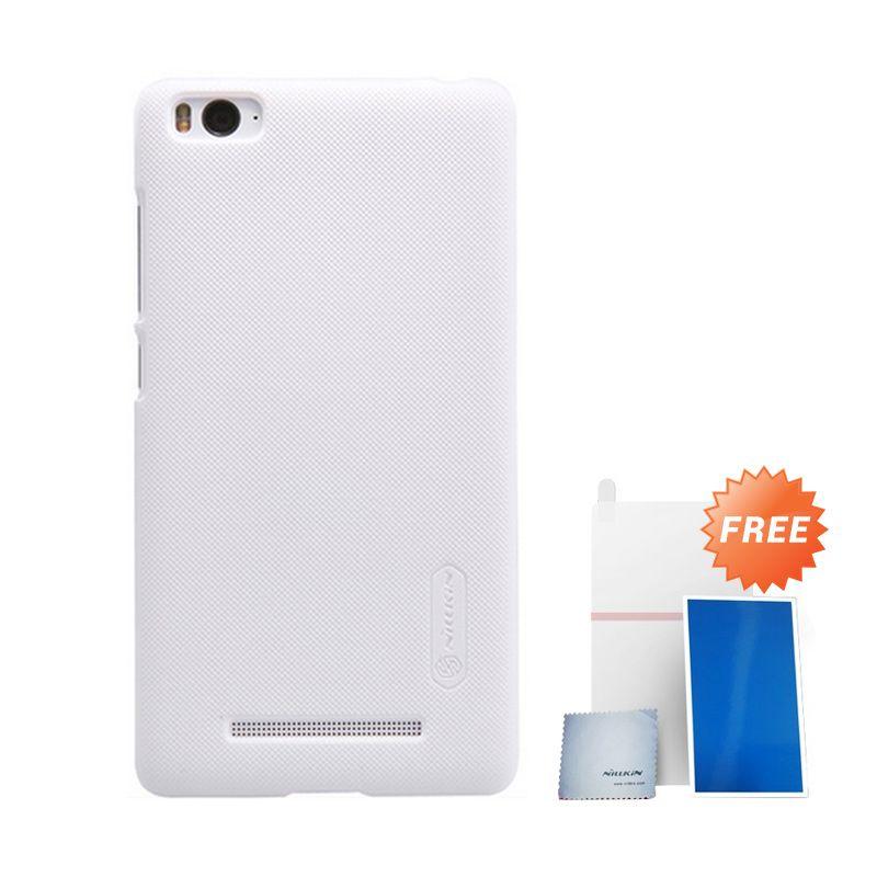 Nillkin Super Frosted Shield White Casing For Xiaomi Mi4i + Anti Gores