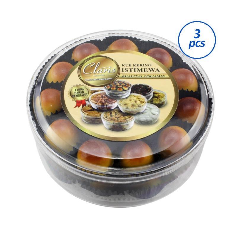 harga Claris Paket Hemat Home Made Kue Kering Nastar [Toples Sedang/3 Pcs] Blibli.com