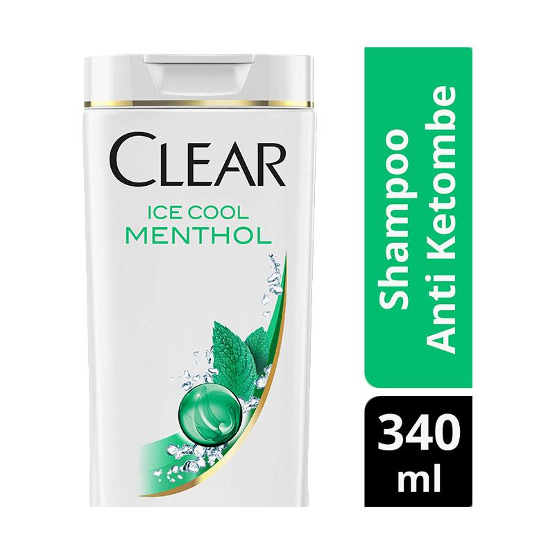 Clear Shampoo Anti Ketombe Ice Cool Menthol 340ml