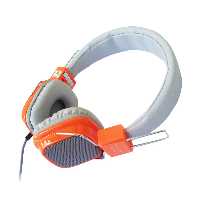 Clear Cast CC-01 Orange Headset with Microphone