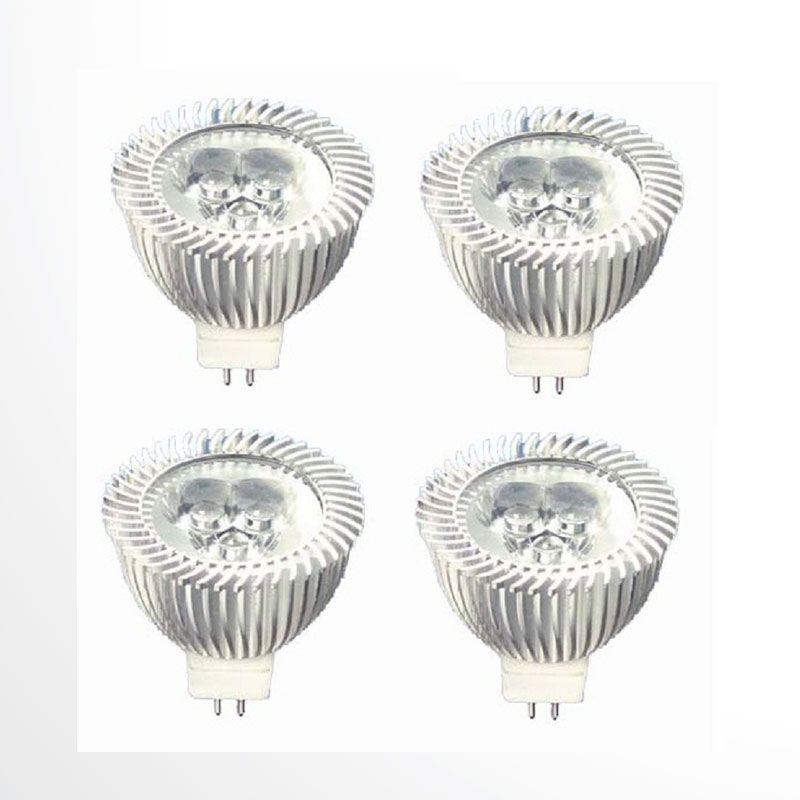 ACR MR16 Putih Lampu LED [3 Watt/4100 K/12 Volt/4 Pcs]