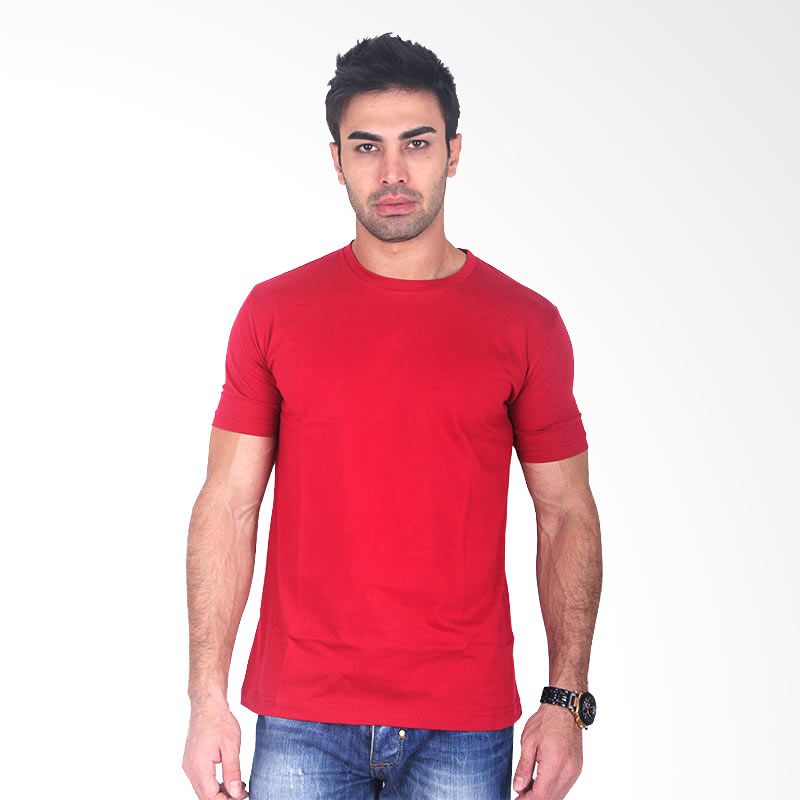 Clothmakers Premium Cotton Circle Tees Ruby Wine