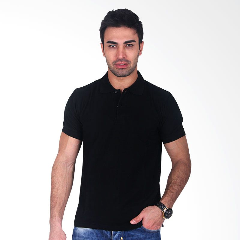 Clothmakers Premium Cotton Polo Black