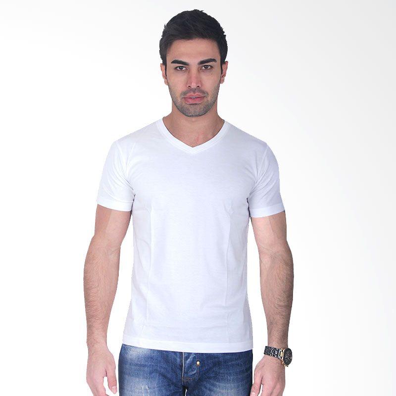 Clothmakers Premium Cotton V Tees White