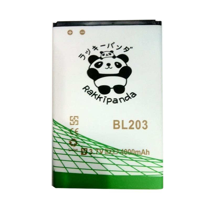 BATTERY BATERAI DOUBLE POWER DOUBLE IC RAKKIPANDA BL203/ BL214 LENOVO A316/ A269i/ A369i/ A369/ A66/ A276/ ACER Z3/ ACER Z130 4000mAh