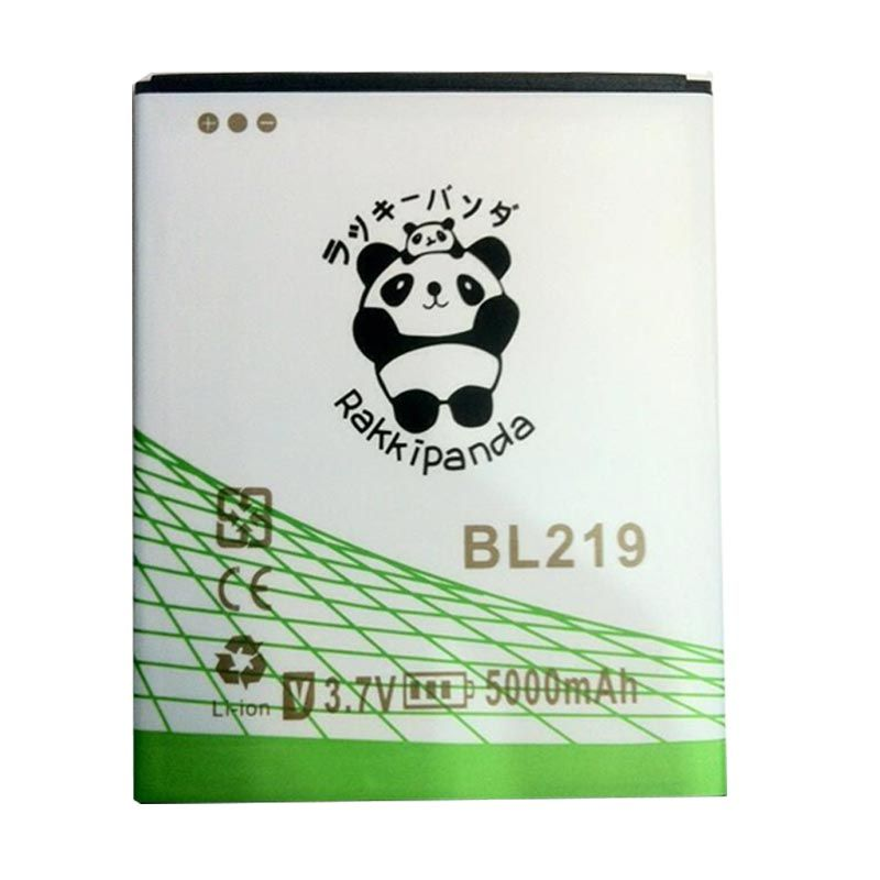 BATTERY BATERAI DOUBLE POWER DOUBLE IC RAKKIPANDA BL219 LENOVO A880/ A889/ A916 5000mAh
