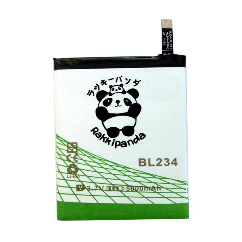 BATTERY BATERAI DOUBLE POWER DOUBLE IC RAKKIPANDA BL234 LENOVO A5000/ P70/ P90/ A70/ VIBE P1M 5000mAh