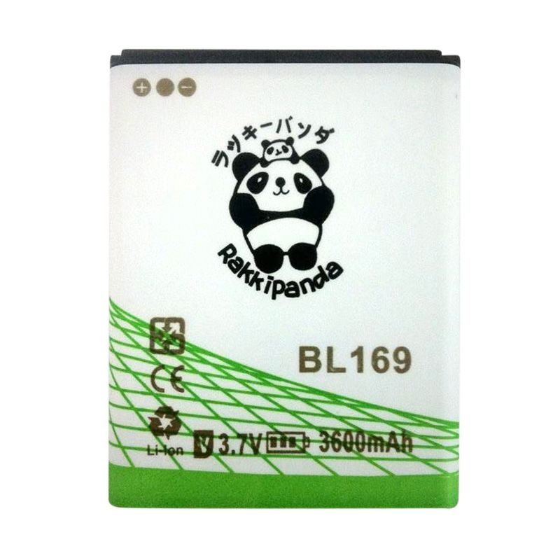BATTERY BATERAI DOUBLE POWER DOUBLE IC RAKKIPANDA BL169 LENOVO S560 3600mAh