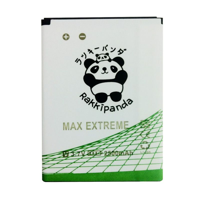 BATTERY BATERAI DOUBLE POWER DOUBLE IC RAKKIPANDA ANDROMAX EXTREME 2500mAh