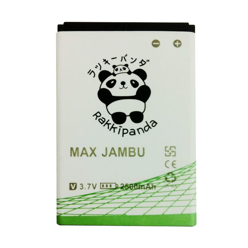 BATTERY BATERAI DOUBLE POWER DOUBLE IC RAKKIPANDA ANDROMAX JAMBU 2500mAh