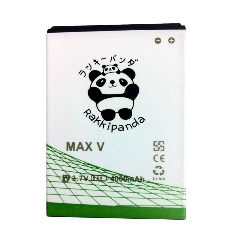 BATTERY BATERAI DOUBLE POWER DOUBLE IC RAKKIPANDA ANDROMAX V/ MAX V1/ MAX V2 4000mAh
