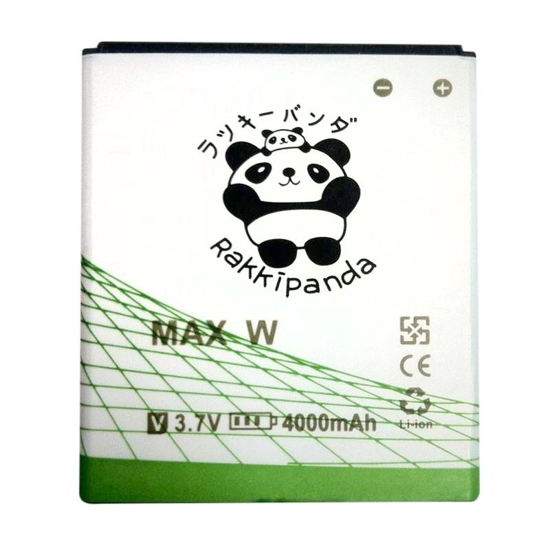 BATTERY BATERAI DOUBLE POWER DOUBLE IC RAKKIPANDA ANDROMAX W 4000mAh