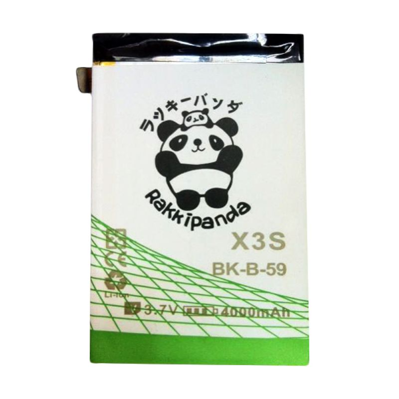 BATTERY BATERAI DOUBLE POWER DOUBLE IC RAKKIPANDA VIVO X3S 4000mAh
