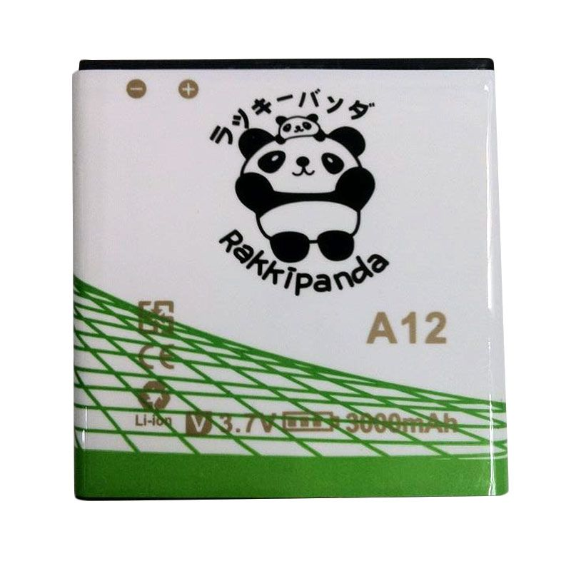 BATTERY BATERAI DOUBLE POWER DOUBLE IC RAKKIPANDA EVERCOSS CROSS A12 3000mAh