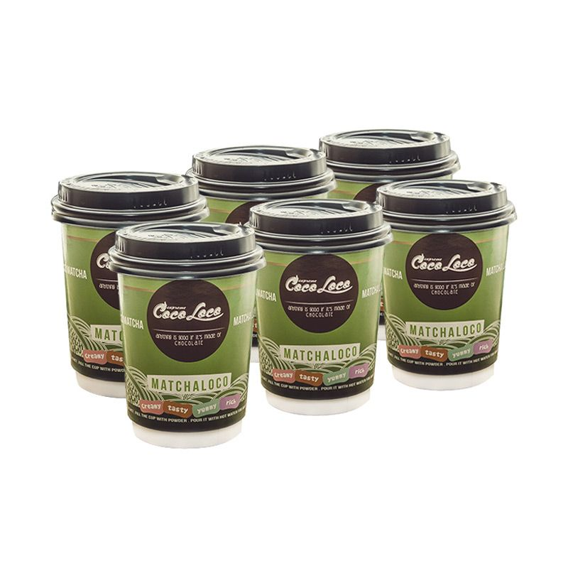Coco Loco Cup Mix Coco Matcha Latte Minuman Instan [6 Cups]