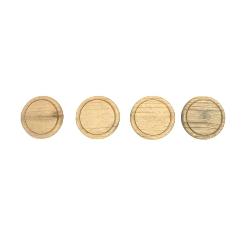 COCOBOLO Round in Square Natural Mindi Wood Coasters Tatakan Gelas