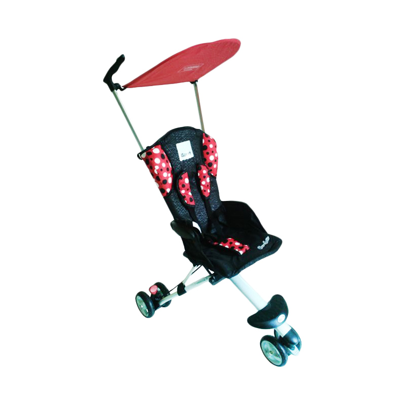 harga Cocolatte iSport Lightweight Baby Stroller / Kereta Dorong Bayi - Merah Polka Blibli.com