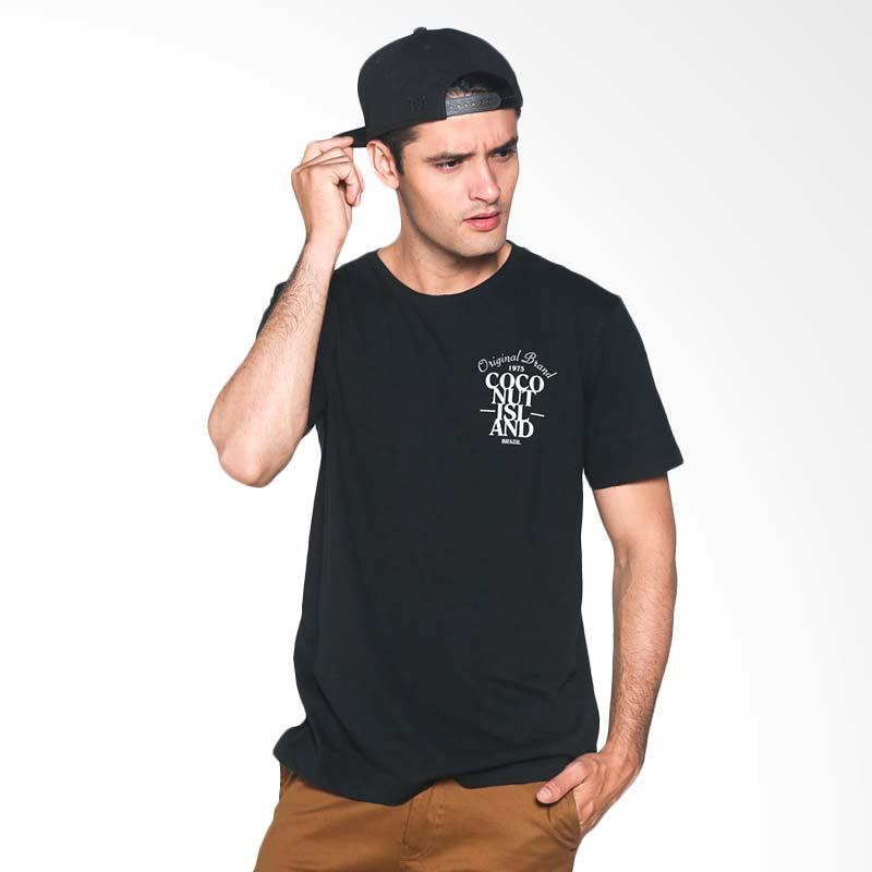 Coconut Island T-shirt Men Statement Tee CMST219H01 Kaos Pria - Black Extra diskon 7% setiap hari Extra diskon 5% setiap hari Citibank – lebih hemat 10%