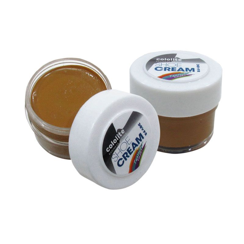 Cololite Shoe Cream Jar 35 Gr Chestnut Brown (2 pcs)