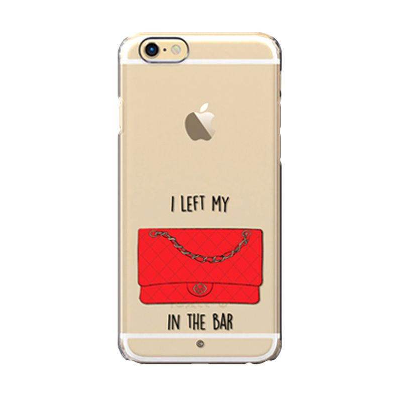 Colorant I left my bag Bar Red Casing for iPhone 6s