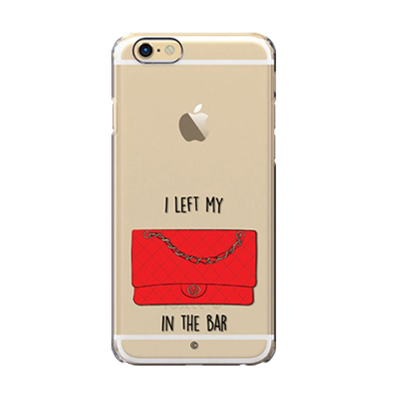 Colorant I Left My Bag Bar Red Casing For iPhone 6s Plus