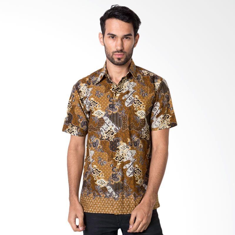 Columbus 8445 Coklat Baju Batik