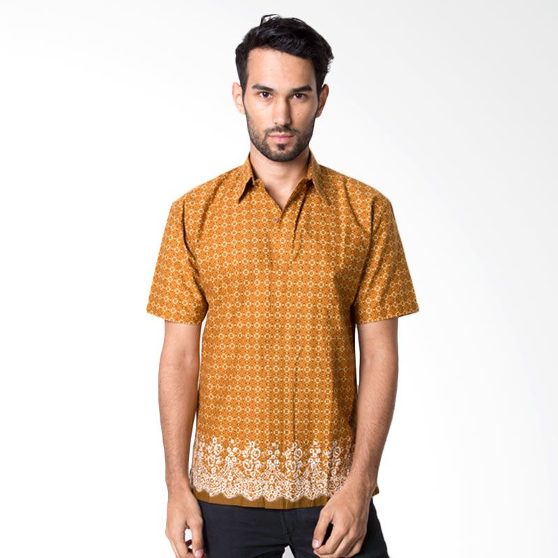 Columbus 9665D Coklat Baju Batik