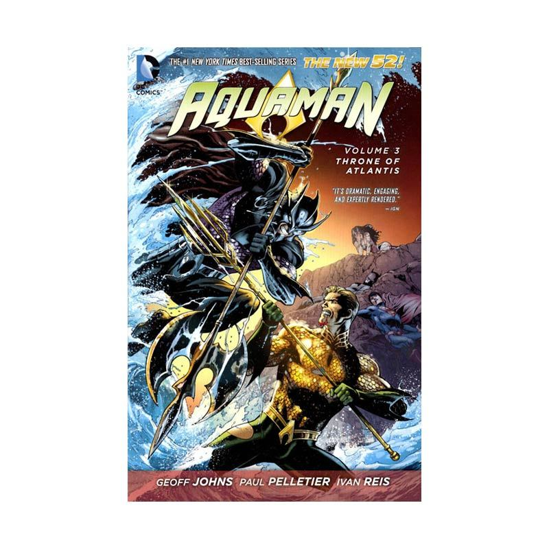 DC Comics Aquaman Throne Of Atlantis Vol 03 TP Buku Komik
