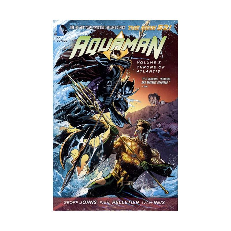 DC Comics Aquaman Throne Of Atlantis Vol 03 HC Buku Komik